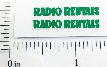 Matchbox TV Service Van Radio Rentals Stickers Main Image