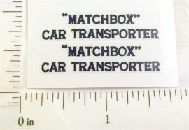 Matchbox #A-2A Car Transporter Sticker Set