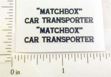 Matchbox #A-2A Car Transporter Sticker Set Main Image