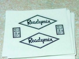 Matchbox Kingsize Readymix Truck Stickers