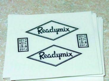 Matchbox Kingsize Readymix Truck Stickers Main Image