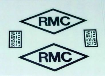 Matchbox Kingsize RMC Cement Truck Stickers Main Image