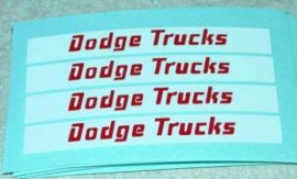 Matchbox Dodge Twin Tipper Truck Stickers