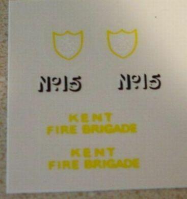 Matchbox Merryweather Fire Engine Sticker Set Main Image
