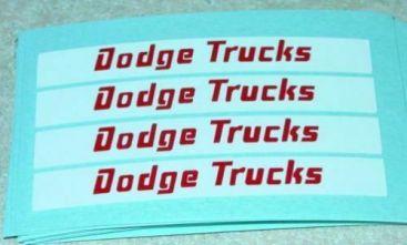 Matchbox Dodge Twin Tipper Truck Stickers Main Image