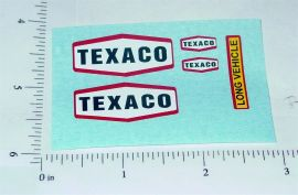 Matchbox Texaco Tanker Semi Truck Stickers