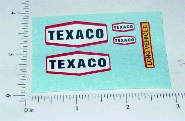 Matchbox Texaco Tanker Semi Truck Stickers Main Image