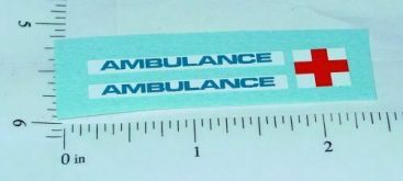 Matchbox Mercedes Benz Ambulance Stickers Main Image