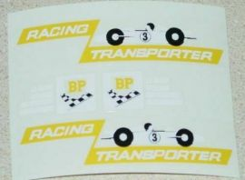 Matchbox Kingsize Race Car Transporter Stickers
