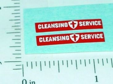 Pair Matchbox Kingsize Refuse Truck Stickers Main Image