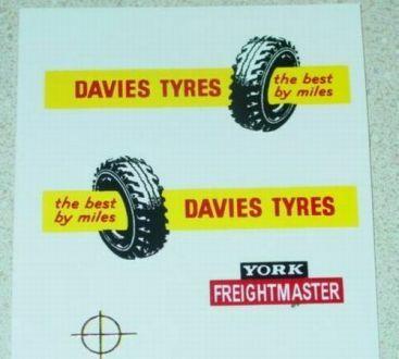 Matchbox Davies Tyres Semi Truck Sticker Set Main Image