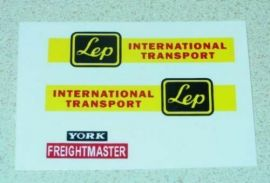 Matchbox LEP Intl Transport Truck Sticker Set