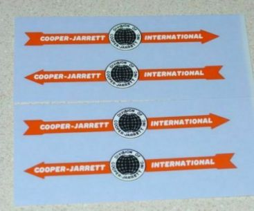 Matchbox Cooper Jarrett (Orange) Sticker Set Main Image