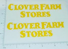 Metalcraft Clover Farms Stores Truck Stickers