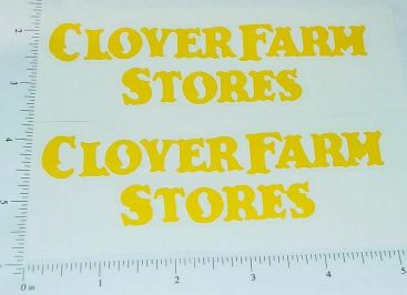 Metalcraft Clover Farms Stores Truck Stickers Main Image