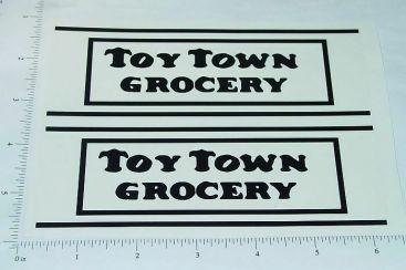 Metalcraft Toytown Grocery Truck Sticker Set Main Image