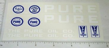 Metalcraft Pure Oil Tanker Truck Sticker Set Main Image