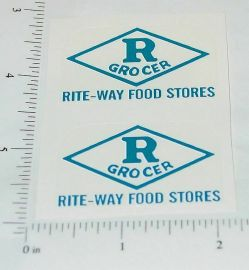 Metalcraft Rite-Way Grocers Delivery Stickers