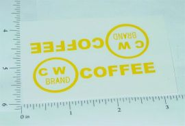 Metalcraft CW Coffee Delivery Truck Stickers