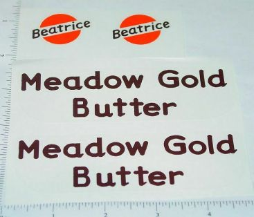 Metalcraft Meadow Gold Butter Truck Stickers Main Image
