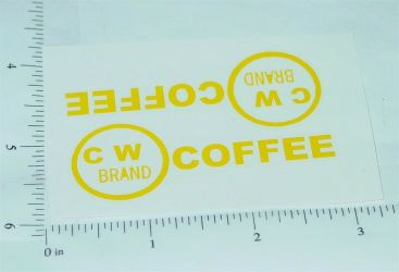 Metalcraft CW Coffee Delivery Truck Stickers Main Image