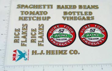 Metalcraft Heinz 57 Pickle Truck Sticker Set Main Image