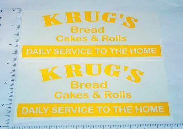 Metalcraft Krug's Baked Goods Truck Stickers Main Image