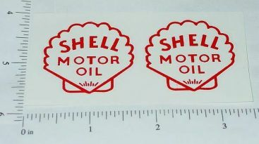 Metalcraft Shell Delivery Truck Sticker Set Main Image