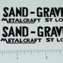 Metalcraft Sand and Gravel Dump Truck Stickers Main Image