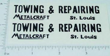Metalcraft Towing & Repairing Wrecker Stickers Main Image