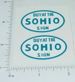 Metalcraft SOHIO Stake Delivery Truck Stickers