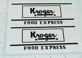 Metalcraft Kroger Van Delivery Truck Stickers
