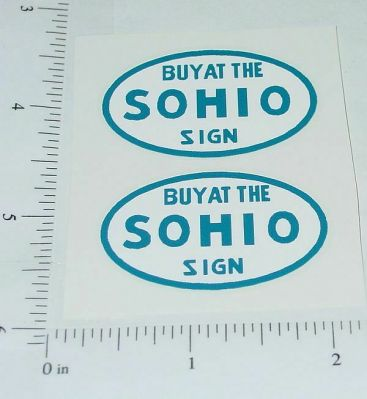 Metalcraft SOHIO Stake Delivery Truck Stickers Main Image