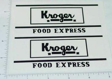 Metalcraft Kroger Van Delivery Truck Stickers Main Image