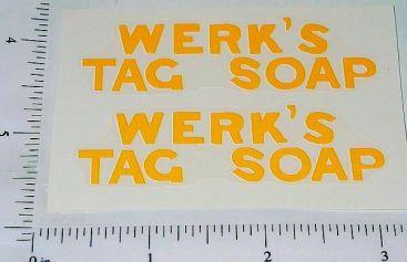 Metalcraft Werk's Tag Soap Truck Sticker Set Main Image
