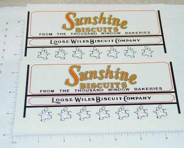 Metalcraft Sunshine Biscuits Van Sticker Set Main Image