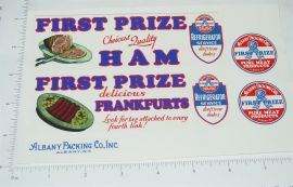 Metalcraft First Prize Meats Truck Sticker Set