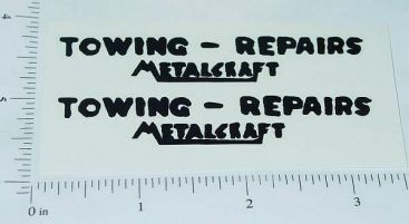 Metalcraft Towing-Repairs Wrecker Sticker Set Main Image