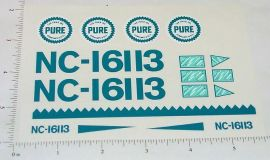 Metalcraft Pure Oil Airplane Sticker Set
