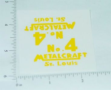 Metalcraft #4 Toy Shovel Vehicle Stickers Main Image