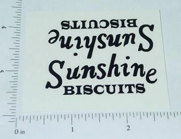 Metalcraft Blk Sunshine Biscuits Truck Stickers MC-028B Main Image