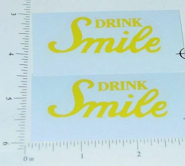 Metalcraft Drink Smile Delivery Truck Stickers Main Image