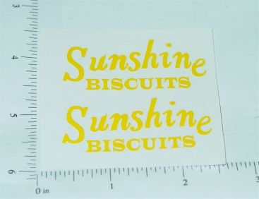 Metalcraft Sunshine Biscuits Stake Truck Stickers Main Image