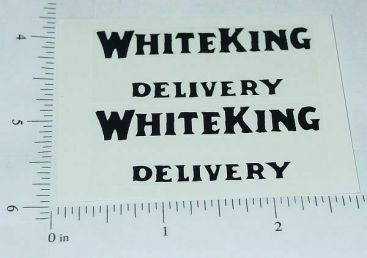 Metalcraft White King Stake Truck Sticker Set Main Image