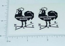 Metalcraft Weatherbird Shoes Truck Stickers