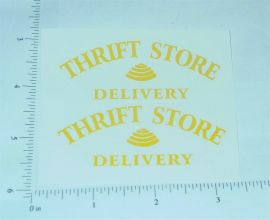 Metalcraft Thrift Store Deliver Stickers