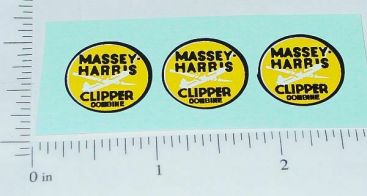 Massey Harris Clipper Combine Sticker Set Main Image