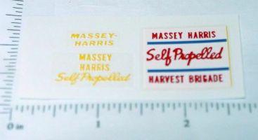 Massey Harris Harvest Brigade Combine Stickers Main Image