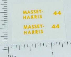 Massey Harris 44 Tractor 1:16 Scale Sticker Set