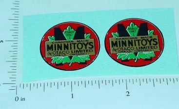 Otaco Minnitoys Round Logo Replacement Stickers Main Image